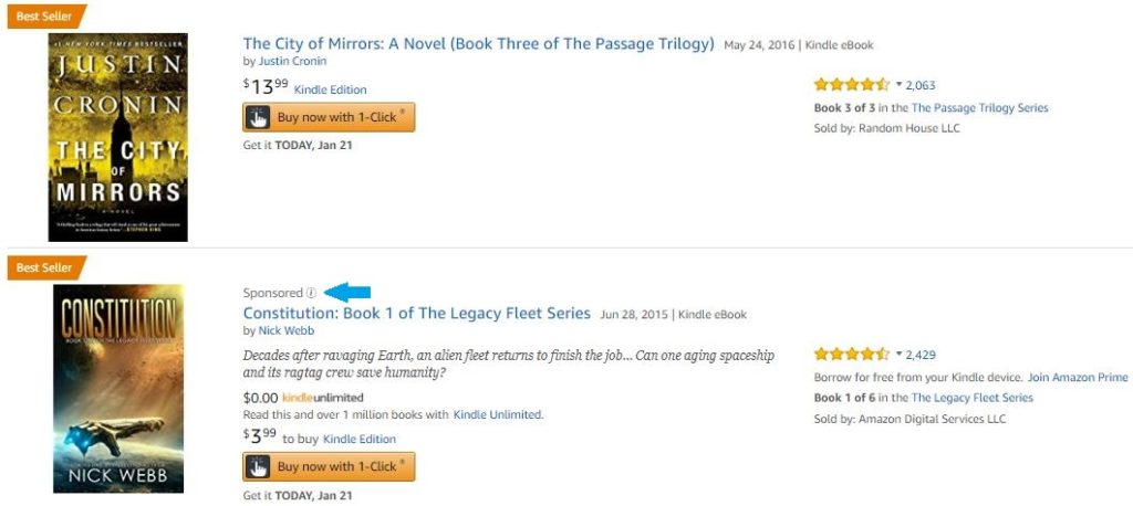 Amazon Advertising for ebooks 1