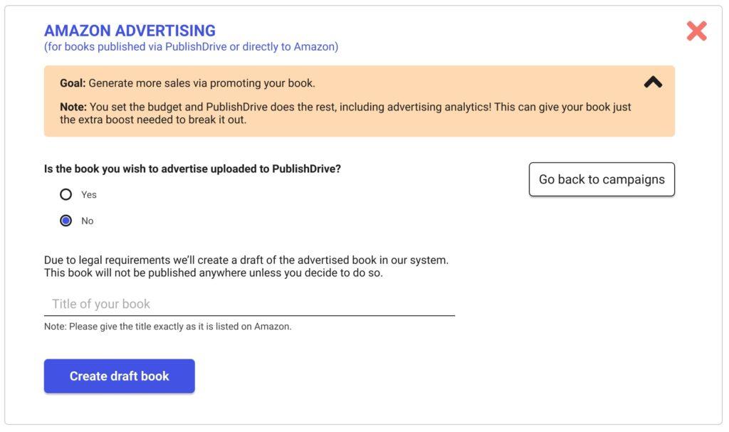 Amazon advertising for ebooks 2