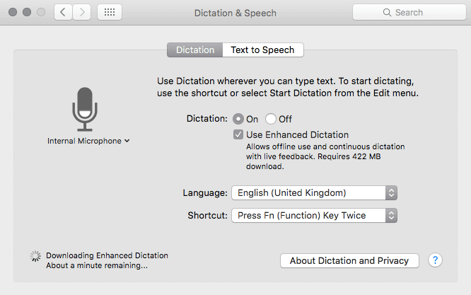 Ebook publishing service: dictation and speech
