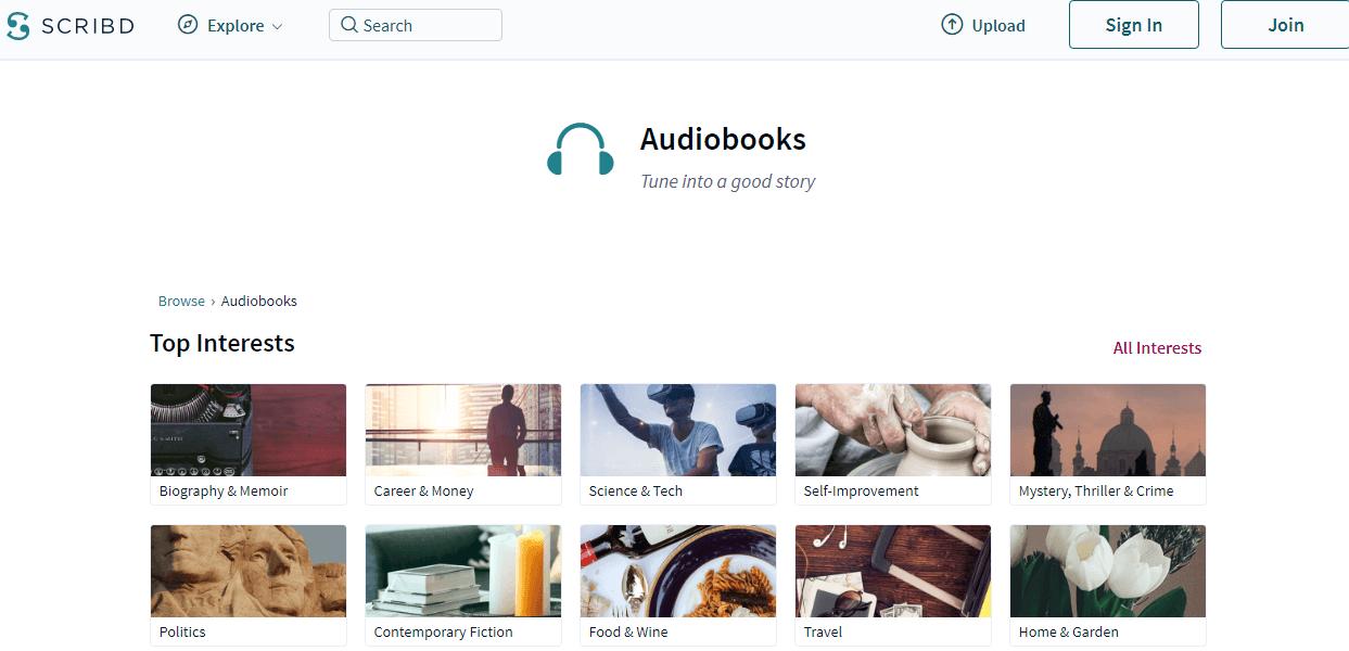 Sribd audiobooks