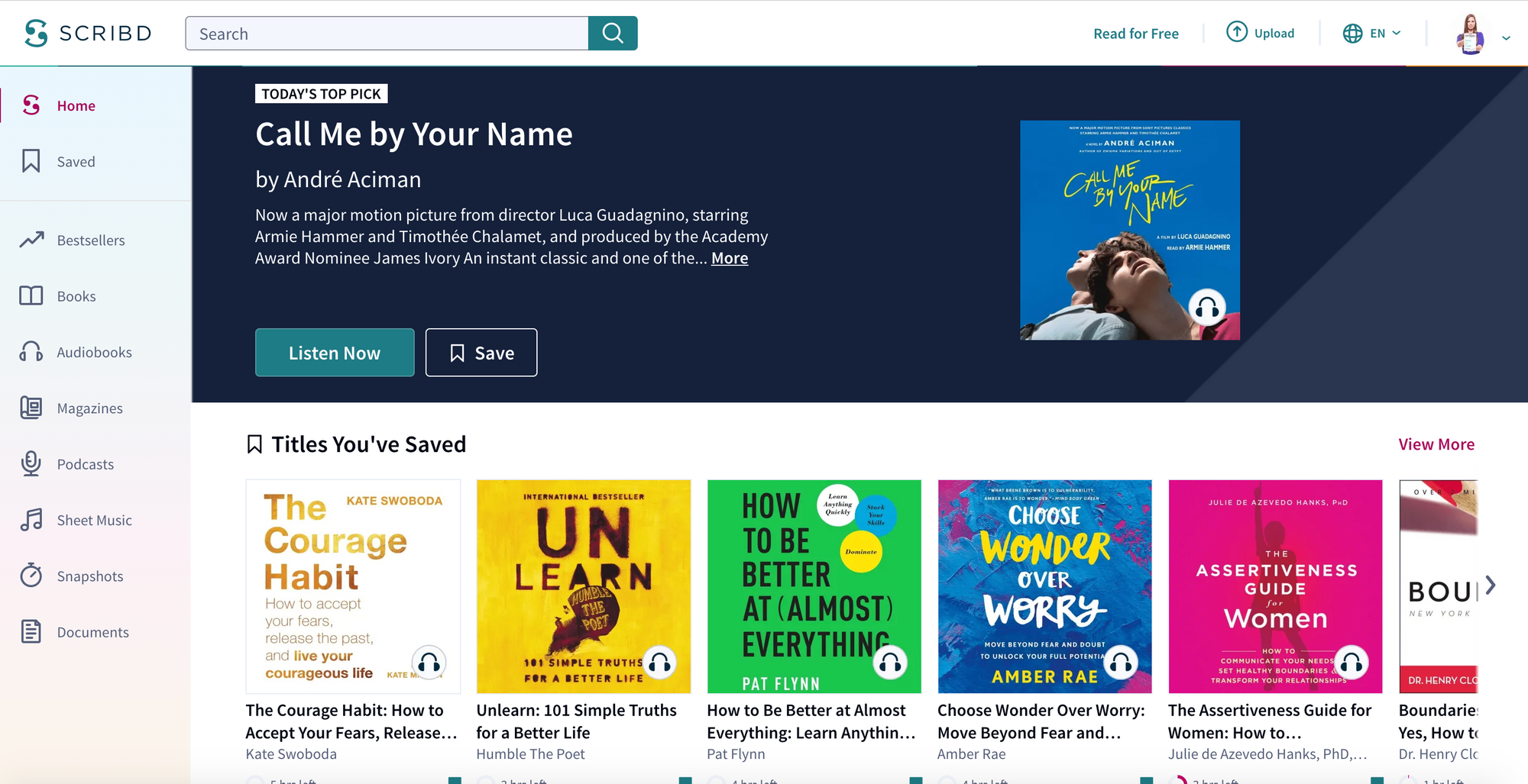 Scribd Store Front Page