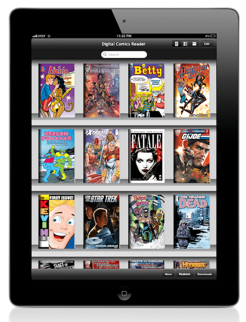 comic books on ipad