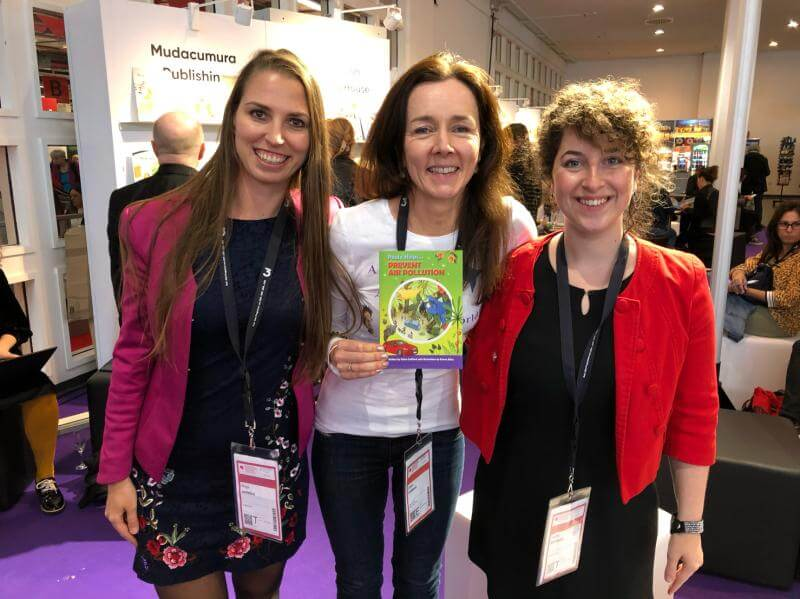 Kinga Jentetics (PublishDrive's CEO), Claire Culliford, and Dalma Szentpály (Business Development Associate at PublishDrive)