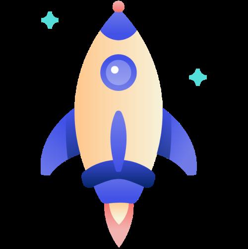Self publishing PublishDrive Rocket Logo