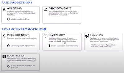 PublishDrive book promotion tools