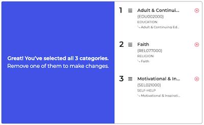 PublishDrive book categorization AI