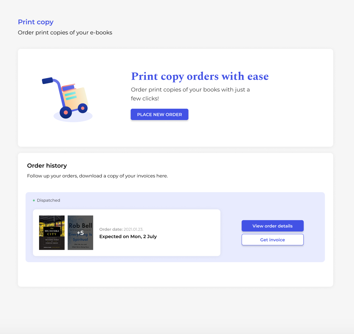 Order print book copies with ease with PublishDrive's platform