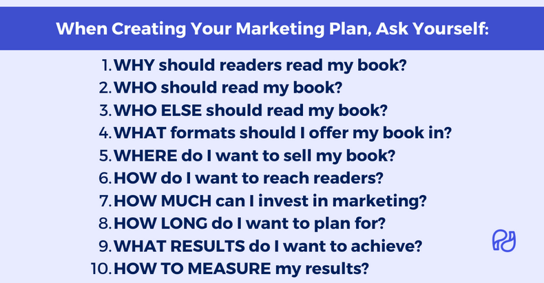 Book marketing plan for publishing success