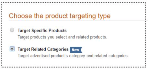 Chossing Amazon ad product targeting type