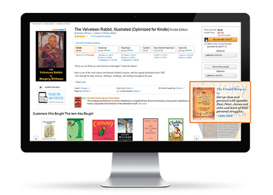Book Amazon ad for product display