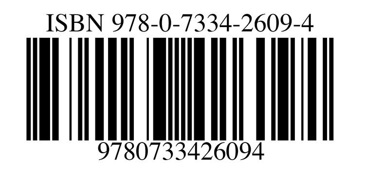 ISBN bar code for books
