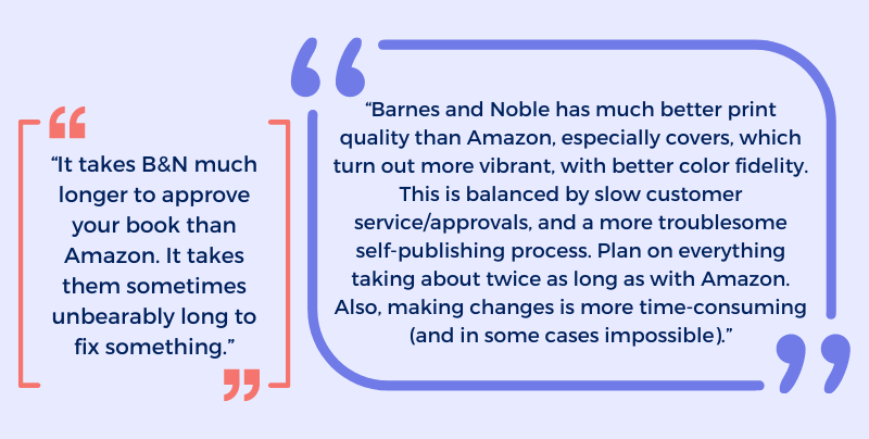 What Barnes & Noble authors said about their experience