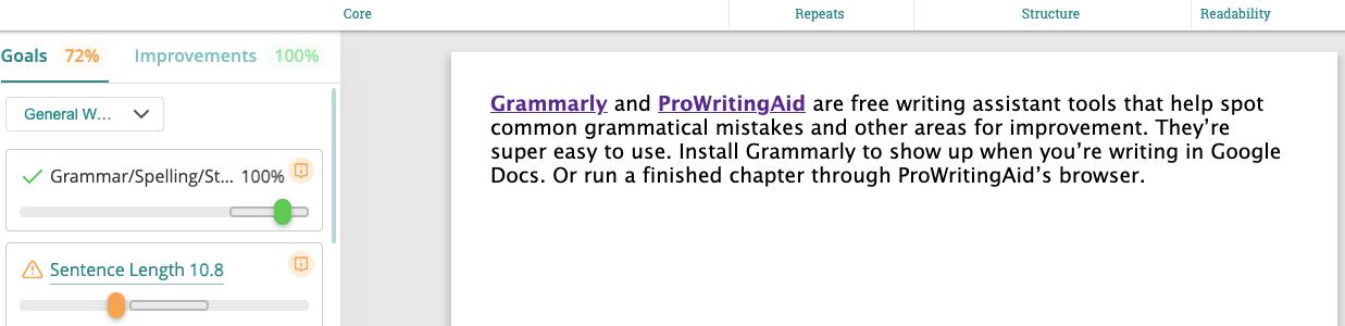 Use ProWritingAid to edit your manuscript