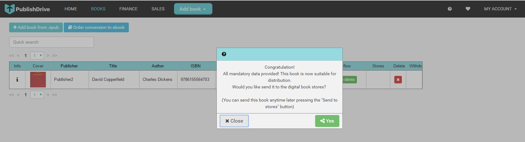 Publish a book in Publishdrive