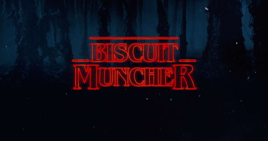 Stranger Things Font Biscuit Muncher