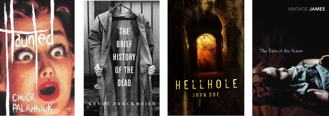 Horror book cover font good examples