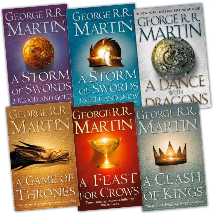 George R.R. Martin fantasy book series covers