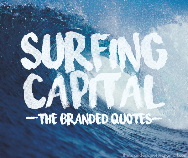 Surfing capital brush like font