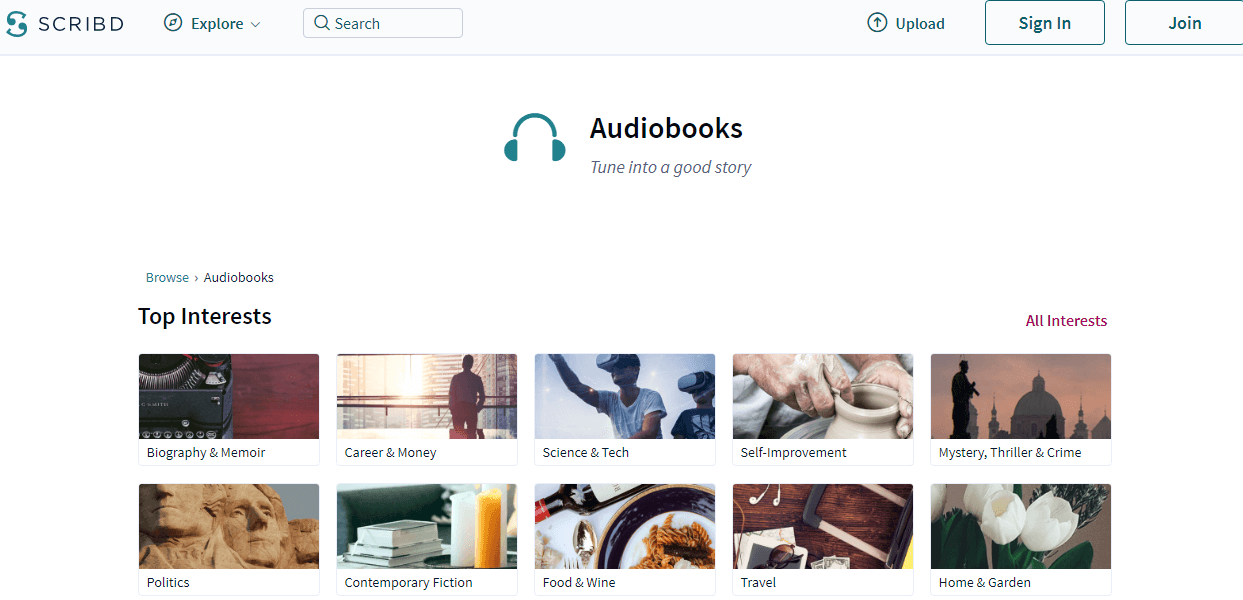 Sribd audiobooks