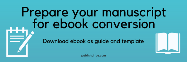 prepare manuscript for ebook conversion