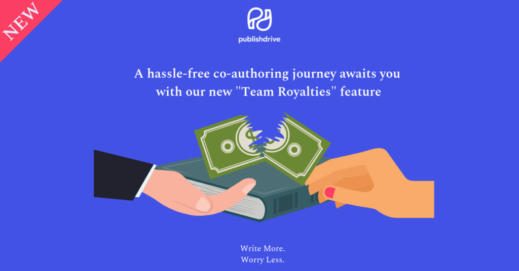 Team Royalties feature for co-author royalties and royalty splitting